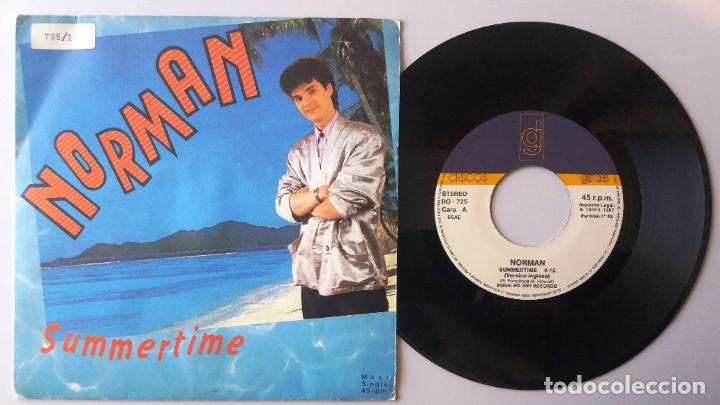 NORMAN / SUMMERTIME / SINGLE 7 INCH (Música - Discos de Vinilo - Singles - Pop - Rock Extranjero de los 80)