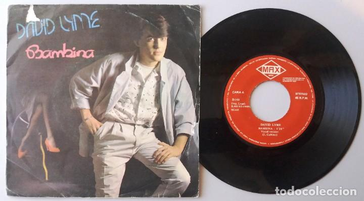 DAVID LYME / BAMBINA / SINGLE 7 INCH (Música - Discos de Vinilo - Singles - Pop - Rock Extranjero de los 80)