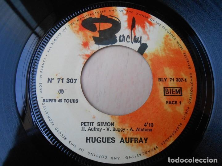 Discos de vinilo: HUGUES AUFRAY, EP, PETIT SIMON + 2, AÑO 19?? MADE IN FRANCE - Foto 3 - 194883368