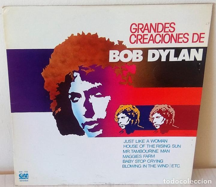BOB DYLAN - GRANDES CREACIONES DE GRAMUSIC - 1978 (Música - Discos - LP Vinilo - Pop - Rock Extranjero de los 50 y 60)