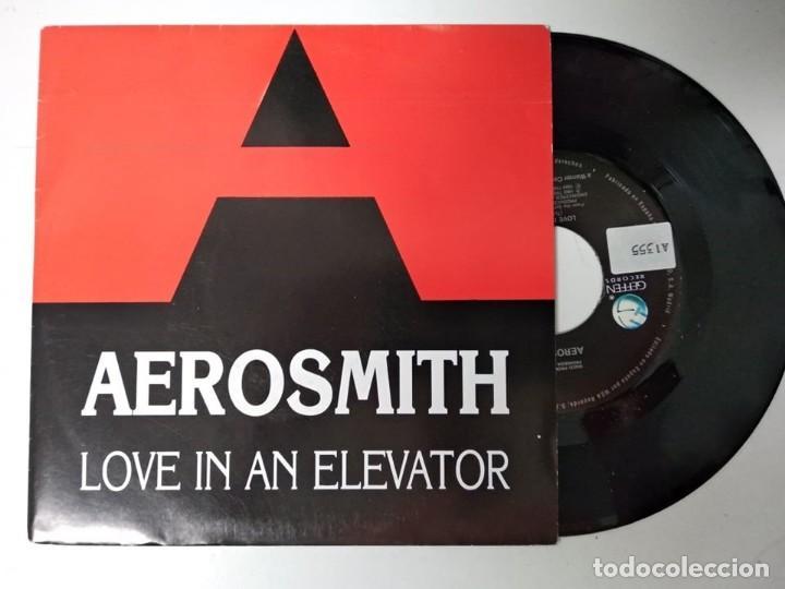 AEROSMITH (SN) LOVE IN AN ELEVATOR AÑO 1989 - PROMOCIONAL (Música - Discos - Singles Vinilo - Rock & Roll)