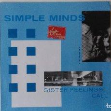 Discos de vinilo: SIMPLE MINDS-SISTER FEELINGS CALL (RE-EDICION 1986) ED:ESPAÑA VIRGIN-E 205 154. Lote 194886831