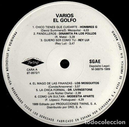 Discos de vinilo: V472 - EL GOLFO. HOMBRES G. LOQUILLO. LOS SECRETOS. DUNCAN DHU. NACHA POP. . DOBLE LP VINILO - Foto 2 - 194887537