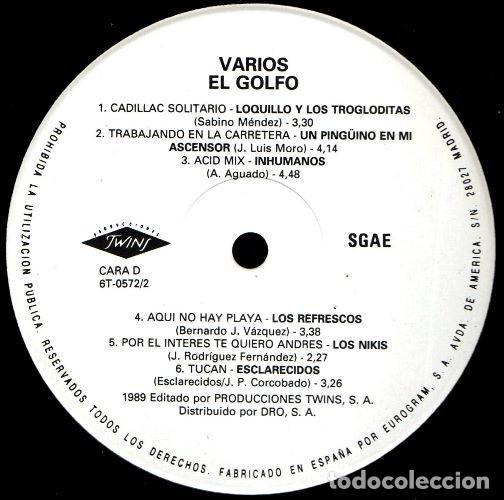 Discos de vinilo: V472 - EL GOLFO. HOMBRES G. LOQUILLO. LOS SECRETOS. DUNCAN DHU. NACHA POP. . DOBLE LP VINILO - Foto 5 - 194887537