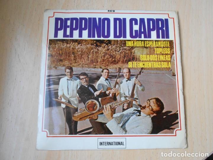 PEPPINO DI CAPRI, EP, UNA HORA ESPERÁNDOTE + 3, AÑO 1964 (Música - Discos de Vinilo - EPs - Canción Francesa e Italiana)