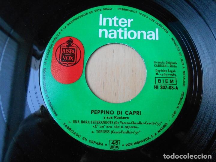 Discos de vinilo: PEPPINO DI CAPRI, EP, UNA HORA ESPERÁNDOTE + 3, AÑO 1964 - Foto 3 - 194887633