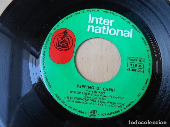 Discos de vinilo: PEPPINO DI CAPRI, EP, UNA HORA ESPERÁNDOTE + 3, AÑO 1964 - Foto 4 - 194887633