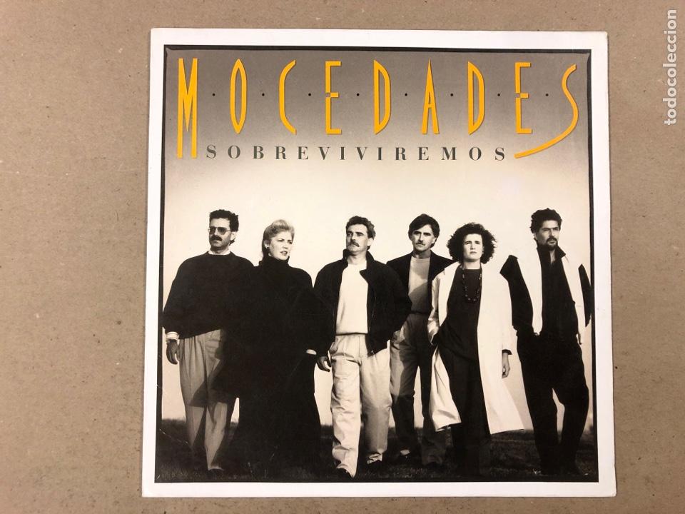 """- L.P. VINILO - MOCEDADES """"SOBREVIVIREMOS"""". (Música - Discos - LP Vinilo - Grupos Españoles de los 70 y 80)"""