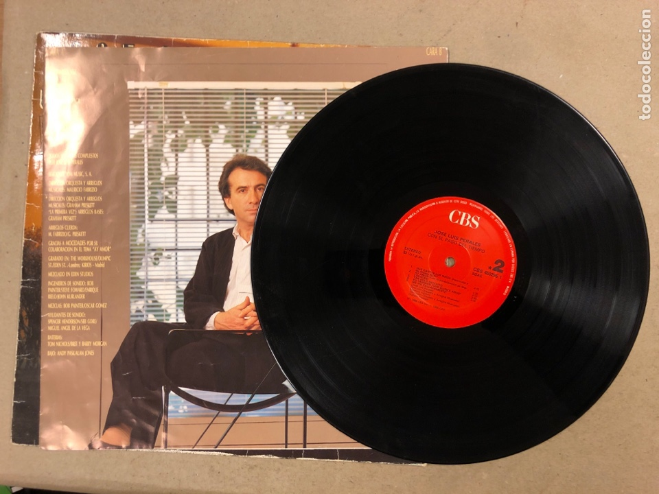 """Discos de vinilo: - L.P. VINILO - JOSÉ LUIS PEREALES """"CON EL PASO DEL TIEMPO"""". - Foto 2 - 194888578"""