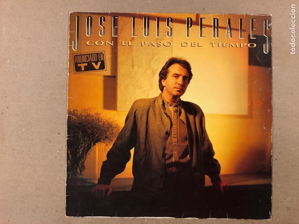"""- L.P. VINILO - JOSÉ LUIS PEREALES """"CON EL PASO DEL TIEMPO"""". (Música - Discos - LP Vinilo - Grupos Españoles de los 70 y 80)"""