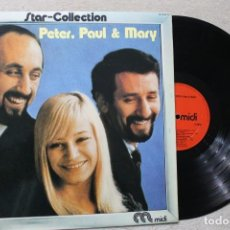 Discos de vinilo: PETER PAUL & MARY STAR COLLECTION LP VINYL MADE IN SPAIN 1975. Lote 194888682