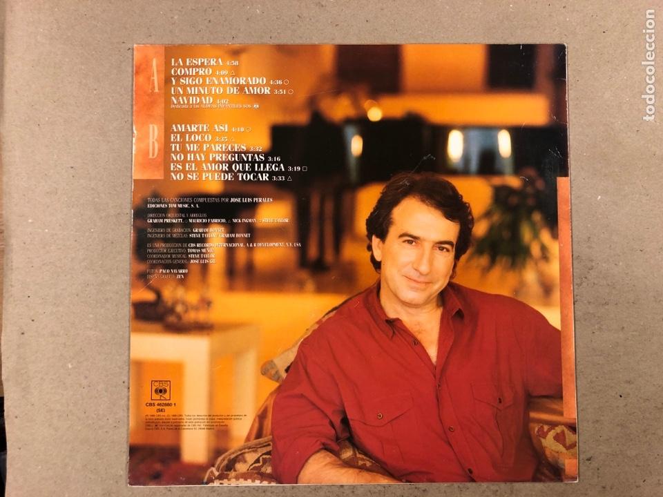 "Discos de vinilo: - L.P. VINILO - JOSÉ LUIS PEREALES ""LA ESPERA"". - Foto 3 - 194888767"