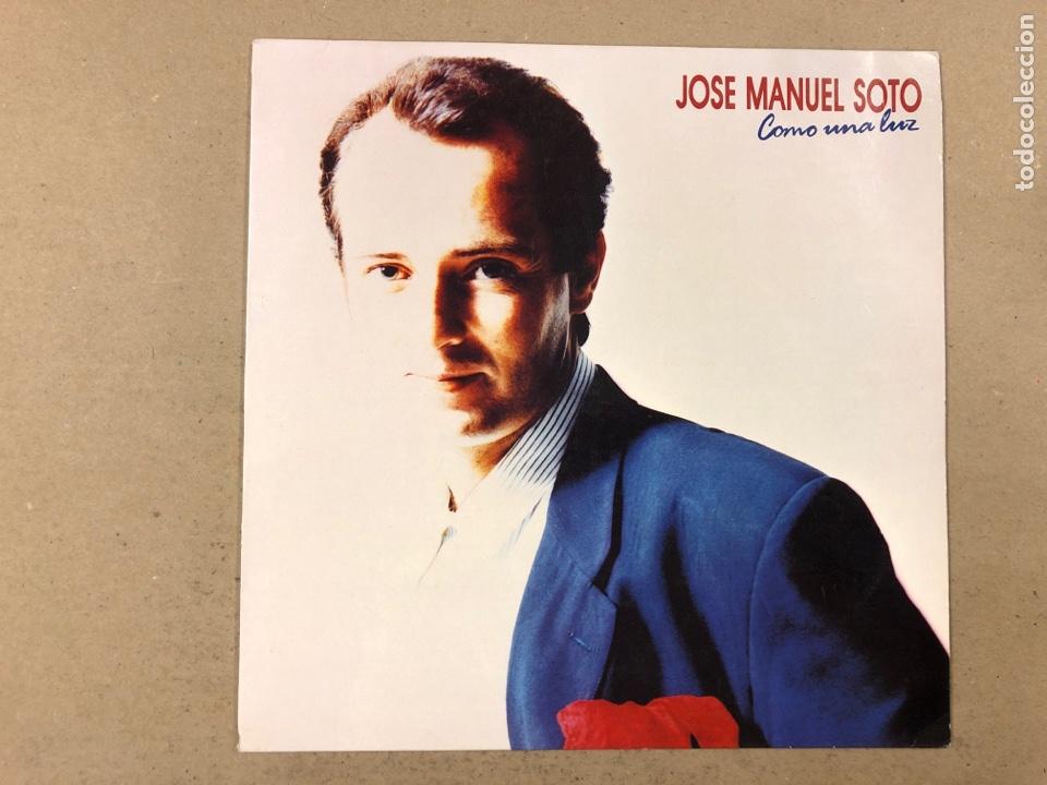 """- L.P. VINILO - JOSÉ MANUEL SOTO """"COMO UNA LUZ"""". (Música - Discos - LP Vinilo - Grupos Españoles de los 70 y 80)"""