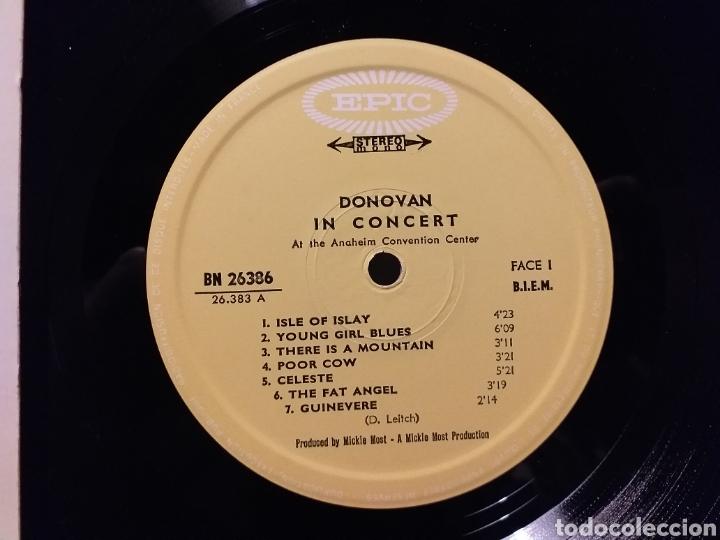 Discos de vinilo: DONOVAN IN CONCERT PRIMERA EDICION FRANCESA DE 1968 - Foto 2 - 194889627