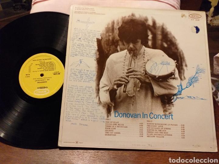 Discos de vinilo: DONOVAN IN CONCERT PRIMERA EDICION FRANCESA DE 1968 - Foto 3 - 194889627