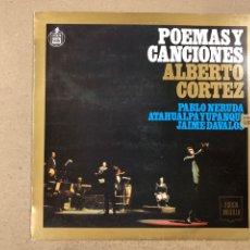 """Discos de vinilo: - L.P. VINILO - ALBERTO CORTEZ """"POEMAS Y CANCIONES"""".. Lote 194889896"""