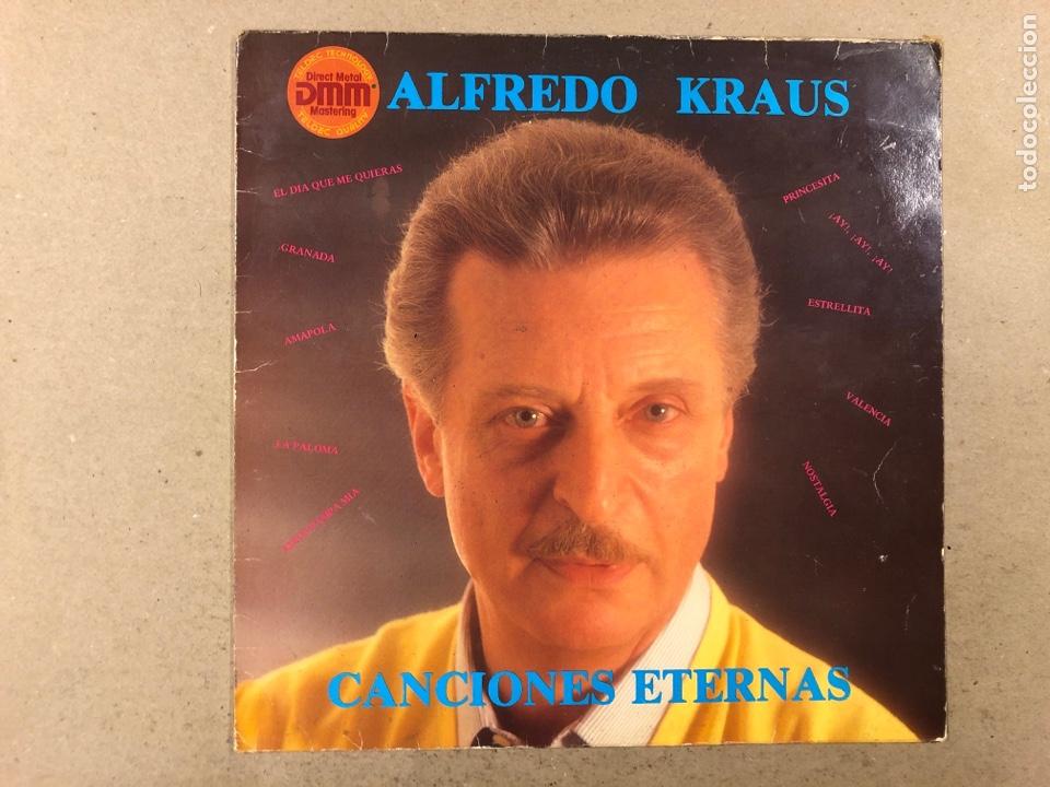 """- L.P. VINILO - ALFREDO KRAUS """"CANCIONES ETERNAS"""". (Música - Discos - LP Vinilo - Solistas Españoles de los 70 a la actualidad)"""