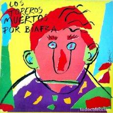 Discos de vinilo: LOS TOREROS MUERTOS – POR BIAFRA - LP SPAIN 1987 + ENCARTE. Lote 194890372