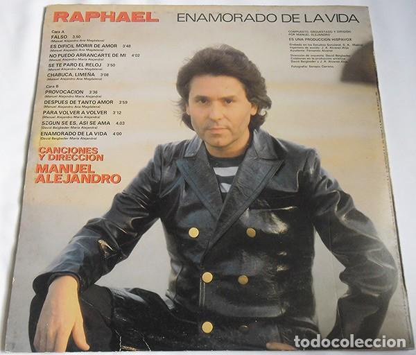 Discos de vinilo: RAPHAEL– ENAMORADO DE LA VIDA - LP SPAIN 1983 - Foto 2 - 194890993