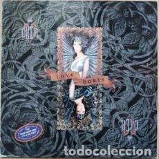 Discos de vinilo: CHER: LOVE HURTS - LP SPAIN 1991 + ENCARTE. Lote 194892107