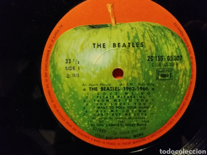 Discos de vinilo: THE BEATLES / 1962-1966 EDICION FRANCESA 1973 - Foto 4 - 194893427