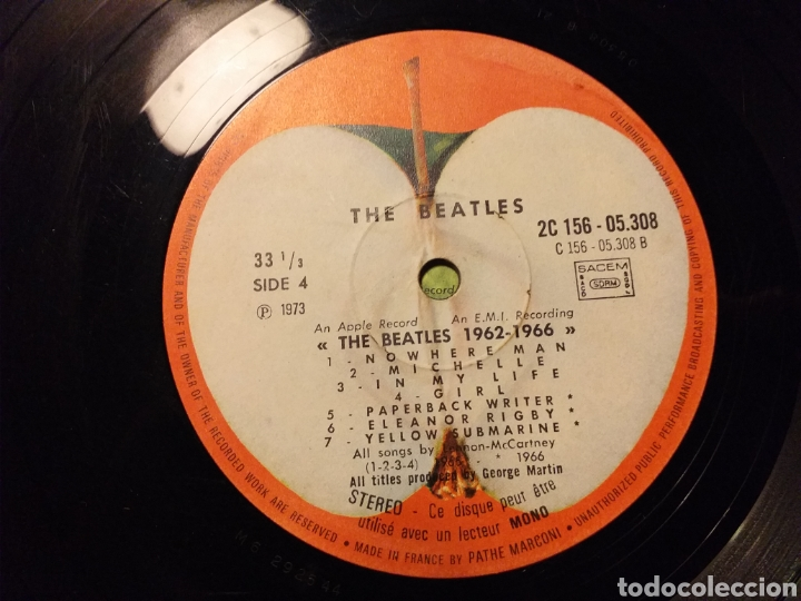 Discos de vinilo: THE BEATLES / 1962-1966 EDICION FRANCESA 1973 - Foto 5 - 194893427