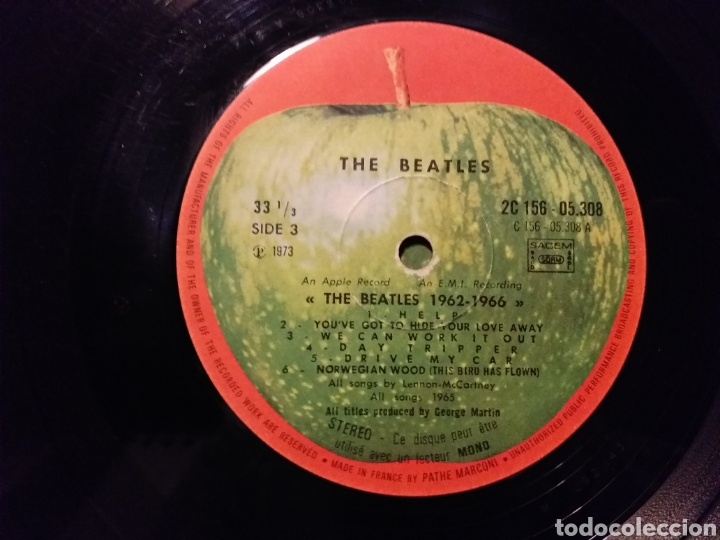 Discos de vinilo: THE BEATLES / 1962-1966 EDICION FRANCESA 1973 - Foto 6 - 194893427