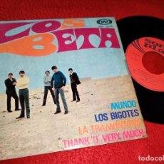 Discos de vinilo: LOS BETA MUNDO/LOS BIGOTES/LA TRAMONTANA/THANK U VERY MUCH EP 1968 SONOPLAY. Lote 194894142