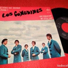 Discos de vinilo: LOS COMODINES LO TIENES QUE ADIVINAR/¿PUEDO?/¡QUE SENSACION!/MY LITTLE LADY EP 1969 SAYTON RARO. Lote 194894272