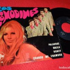 Discos de vinilo: LOS COMODINES PALABRAS/DALILA/HONEY/CUANDO ME ENAMORO EP 1968 SAYTON. Lote 194894356