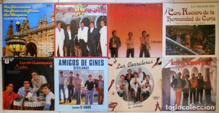 LOTE 36 LPS DISCOS DE VINILO DE SEVILLANAS, COPLA Y CANCIÓN ESPAÑOLA (Música - Discos de Vinilo - EPs - Flamenco, Canción española y Cuplé)