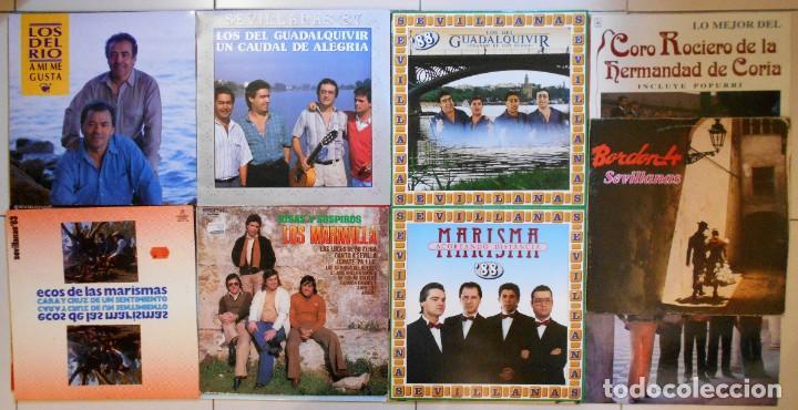 Discos de vinilo: LOTE 36 LPs DISCOS DE VINILO DE SEVILLANAS, COPLA Y CANCIÓN ESPAÑOLA - Foto 2 - 194897982