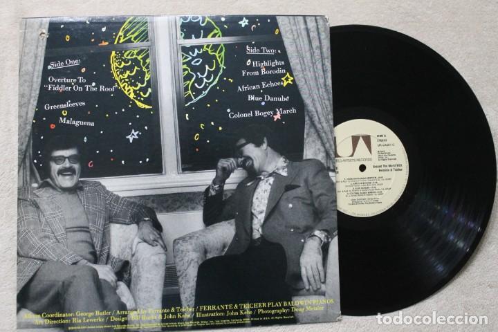 Discos de vinilo: AROUND THE WORLD WITH FERRANTE & TEICHER LP VINYL MADE IN USA 1977 - Foto 2 - 194898001