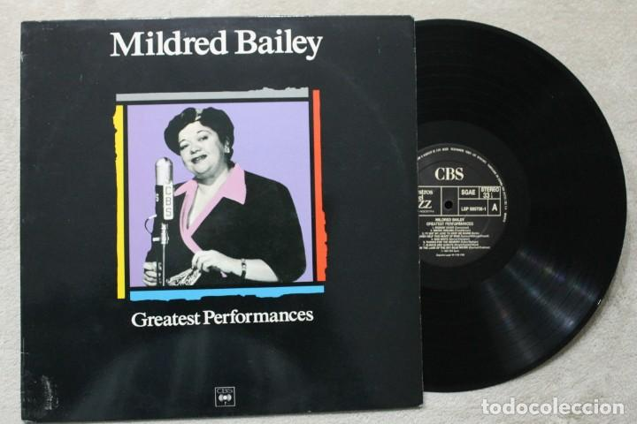 MILDRED BAILEY GREATEST PERFORMANCES LP VINYL MADE IN SPAIN 1989 (Música - Discos - LP Vinilo - Jazz, Jazz-Rock, Blues y R&B)