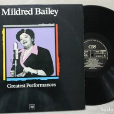 Discos de vinilo: MILDRED BAILEY GREATEST PERFORMANCES LP VINYL MADE IN SPAIN 1989. Lote 194899166