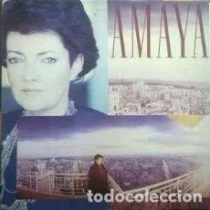Discos de vinilo: AMAYA - SOBRE EL LATIDO DE LA CIUDAD - LP SPAIN 1988 + LETRAS. Lote 194899180