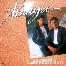 Discos de vinilo: LOS AMAYA - LOS EXITOS LP SPAIN 1991. Lote 194899492