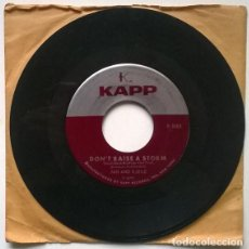 Discos de vinilo: JAN AND KJELD. DON'T RAISE A STORM/ BANJO BOY. KAPP, USA 1960 SINGLE. Lote 194899727