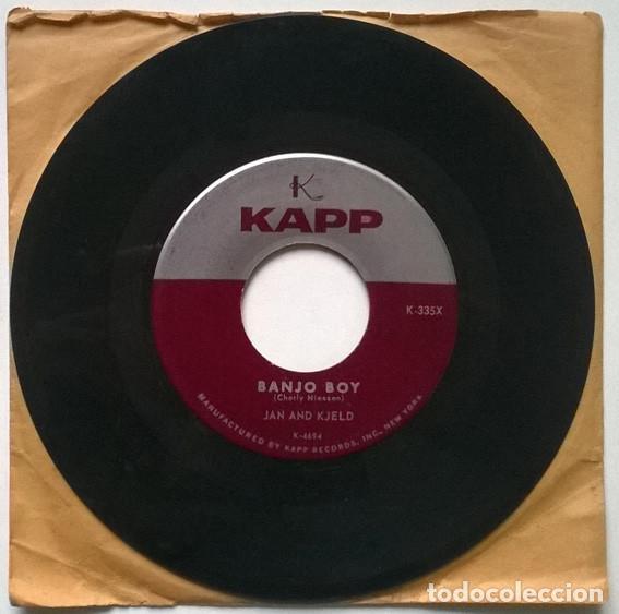 Discos de vinilo: Jan and Kjeld. Dont raise a storm/ Banjo boy. Kapp, USA 1960 single - Foto 2 - 194899727