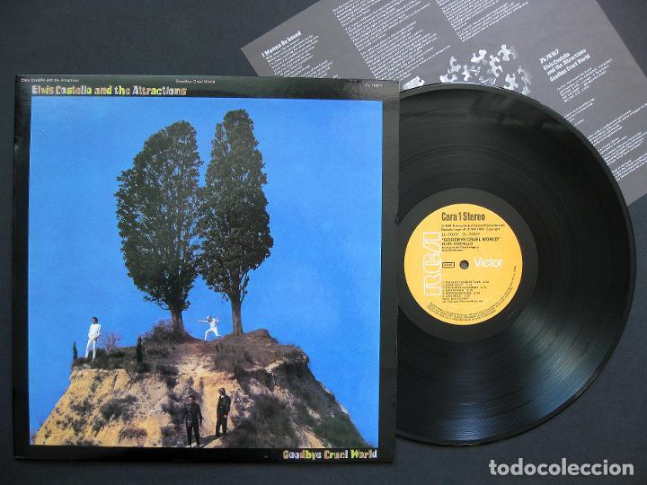 ELVIS COSTELLO & THE ATTRACTIONS – GOODBYE CRUEL WORLD – VINILO 1984 (Música - Discos - LP Vinilo - Pop - Rock - New Wave Extranjero de los 80)