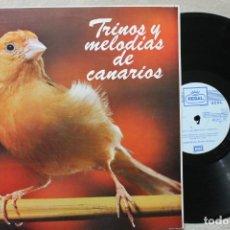 Discos de vinilo: TRINOS Y MELODIASDE CANARIOS LP VINILO MADE IN SPAIN 1976. Lote 194900590
