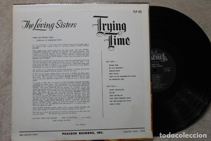 Discos de vinilo: THE LOVING SISTERS TRYING TIME LP VINYL MADE IN USA - Foto 2 - 194900903