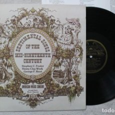 Discos de vinilo: SENTIMENTAL SONGS OF THE MID 19TH CENTURY LP VINYL MADE IN USA 1976. Lote 194901170