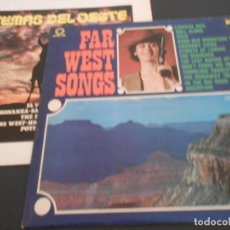 Discos de vinilo: LOTE DE 2 LP. FAR WEST SONGS Y TEMAS DEL OESTE. Lote 194901175
