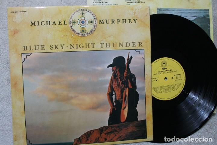 MICHAEL MURPHEY BLUE SKY NIGHT THUNDER LP VINYL MADE IN SPAIN 1975 (Música - Discos - LP Vinilo - Pop - Rock - Extranjero de los 70)