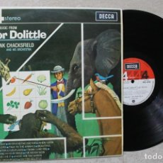Discos de vinilo: BSO DOCTORDOLITTLE FRANK CHACKSFIELD AND HIS ORCHESTRA LP VINYL MADE IN SPAIN 1968. Lote 194901460