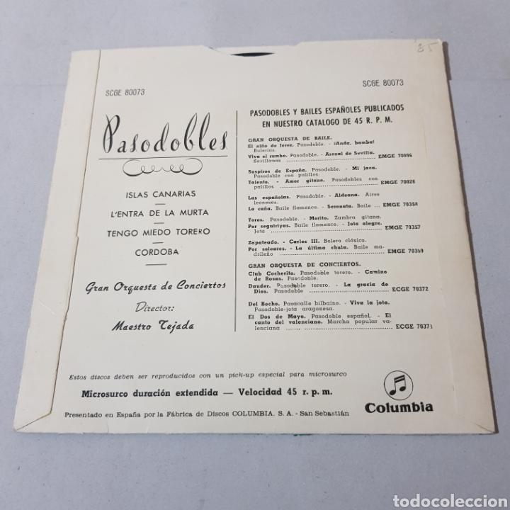 Discos de vinilo: PASODOBLES - MAESTRO TEJADA - COLUMBIA - Foto 2 - 194903805