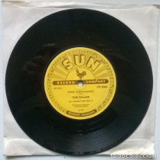 Discos de vinilo: THE ROCKABILLY RAIDERS. HURRICANE ROCK/ THE KILLER. SUN; USA 1957 SINGLE. Lote 194904067
