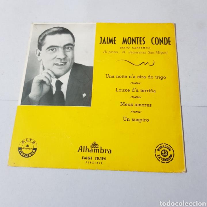 GALICIA - JAIME MONTES CONDE ( BAJO CANTANTE ) (Música - Discos - Singles Vinilo - Otros estilos)