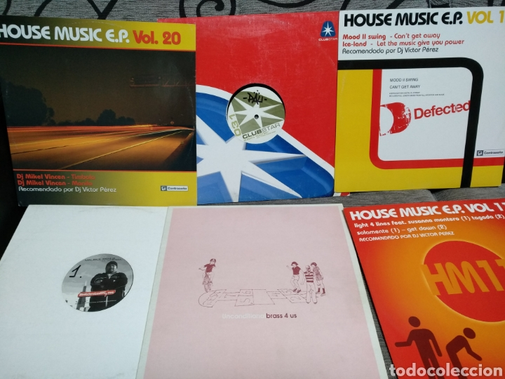 Discos de vinilo: Maleta metálica + Lote 64 Vinilos house - Foto 22 - 194904597